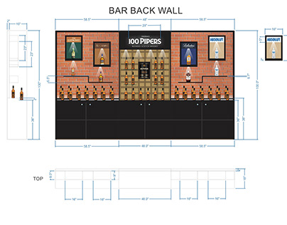 100 PIPERS Bar Design