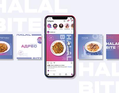 Halal Bite - Instagram Posts & Stories Templates
