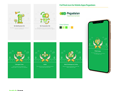 Full pack icon for Mobile Apps Pegadaian