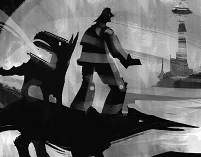 Dog world - speed painting game art illustration