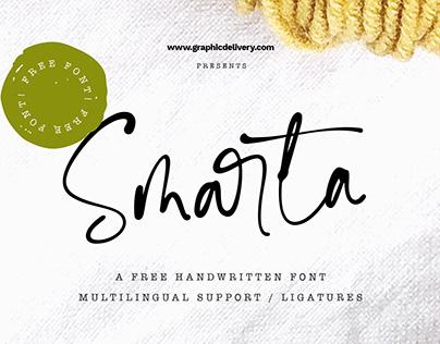 Smarta Free Handwritten Font