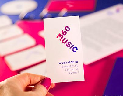 MUSIC-360 branding | logo, print & web design