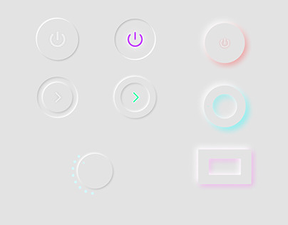 Buttons minimalistic