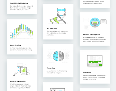 Various icons and illustrations for Upwork