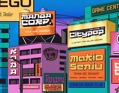 CITYPOP - Japanese 90s Retro Fonts