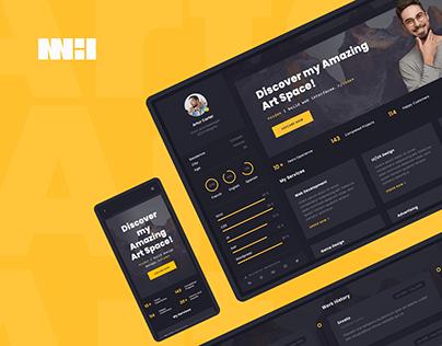 Arter - CV, Resume and Portfolio Web App Template