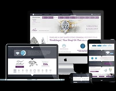 Diamond Company Website Design