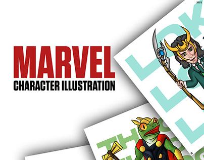 Marvel character illustration