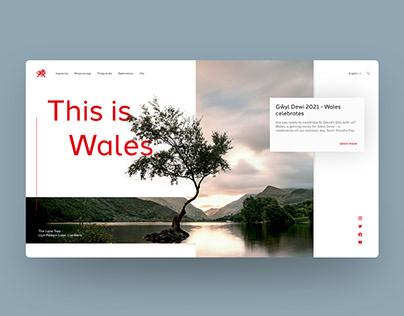 Visit Wales Landing Page