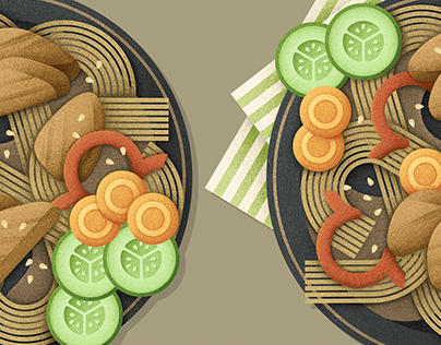 Illustrations for challenge #drawyourfood_2