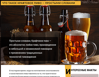 Сraft beer website
