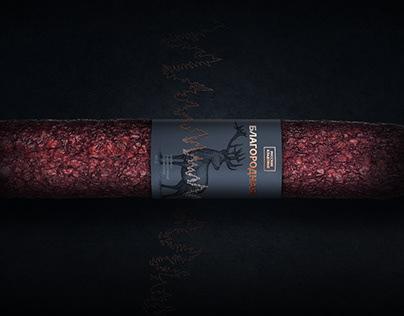Sausage label design