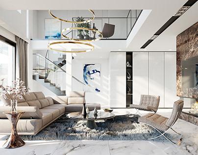 Projekt domu Willa Floryda 2 - wizualizacje wnętrz