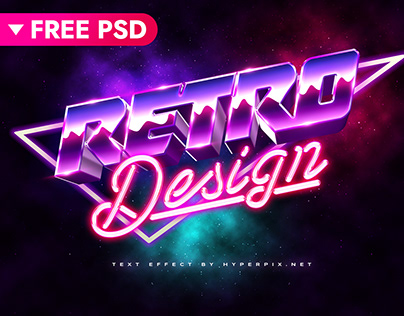 3D 80s Text Effect (FREE)