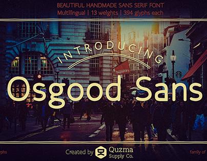 Osgood Sans | handmade sans serif typeface