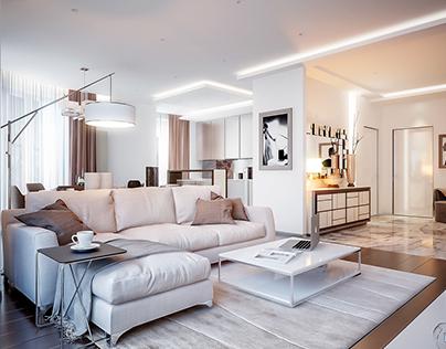 White coffee living room