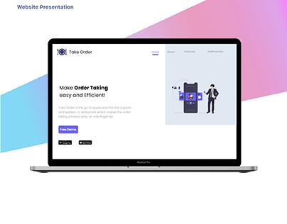 TakeOrder-Website Presentation