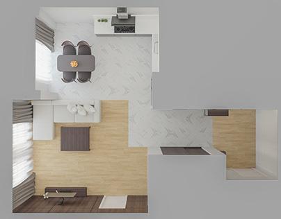 Пример дизайн интерьера ЖК 28-я Жемчужина Одесса