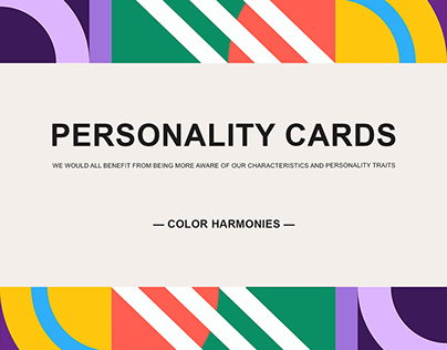 Personality cards. Abstract animated compositions.