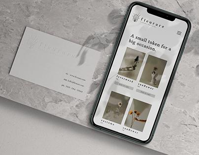 FLEURARE - Florist Branding & Website