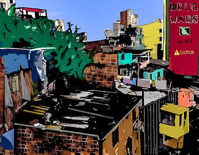 Favela Sao Paulo Brazil 2015