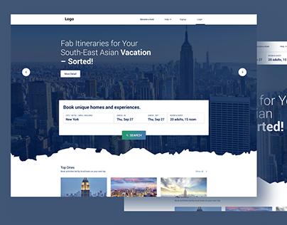 Free Minimal Travel web site landing page