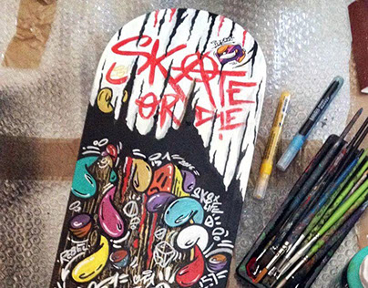 SkateOrDie by IDRO51 (special artdeck x Liquitex)
