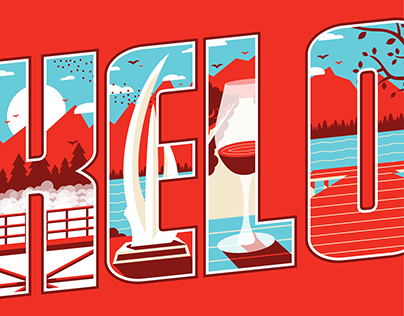 Canadian City Typographic Illustrations