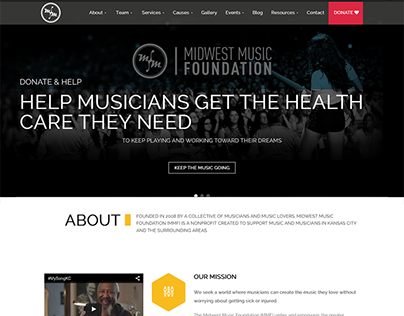 Website & Branding: Midwest Music Foundation
