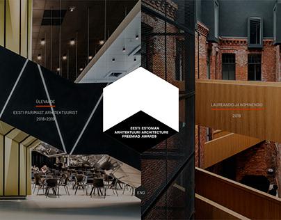Website for Estonian Architecture Awards