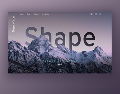 TYPOGRAPHY MOUNTAIN WEB DESIGN