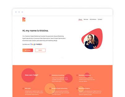 'Kristina Marketing' Digital Marketing Landing Page