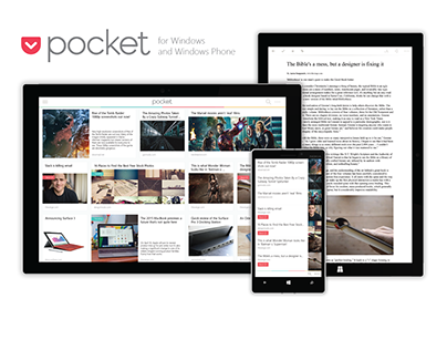 Pocket for Windows and Windows Phone Concept