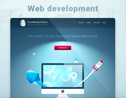 Web development company Landing