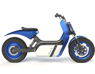 Electric motorcycle design. Electric scooter design