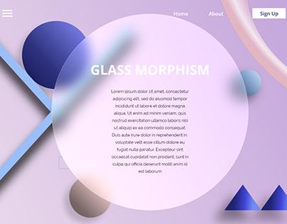 Trending Glass Morphism UIUX Website Designs   2021