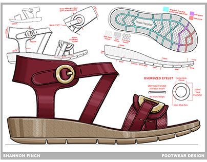 Footwear Design - Project : Ivonne Sandal