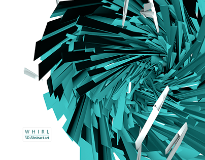 WHIRL / 3D Abstract art
