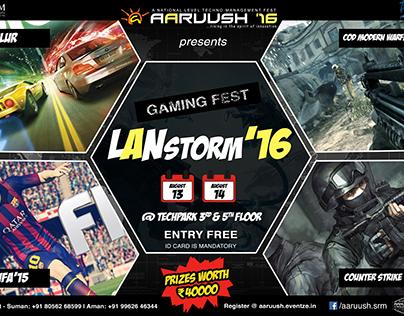Gaming Fest Poster - Lanstorm'16