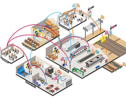 SNCF data +isometric illustration