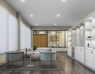 Office Reception And Lobby CGI