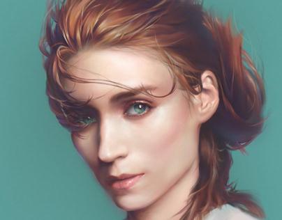 Rooney Mara_Photoshop Digital Painting Portrait