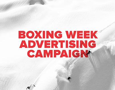 Boxing Week Ad Campaign: The Boardroom Snowboard Shop