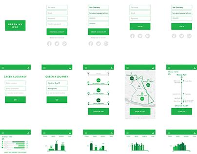 Green My Way app - UI/UX design
