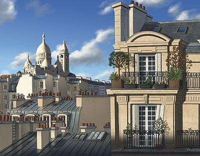 Une vue de la butte Montmartre