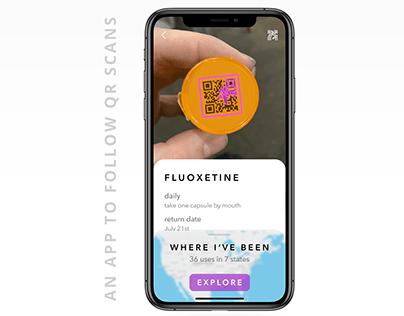 QR Scanning App Mockup