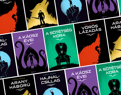 Hungarian Book Covers of the Red Rising Saga
