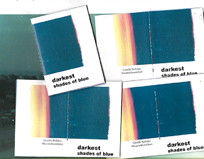 "Photo Zine ""Darkest shades of blue"" (35mm photos)"