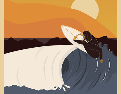 Vintage Surf Poster Prototype
