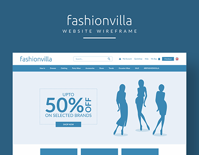 Fashionvilla Website Wireframe